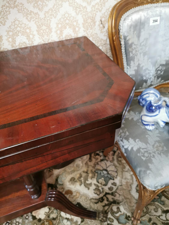 Georgian mahogany turn over leaf card table - Image 2 of 3