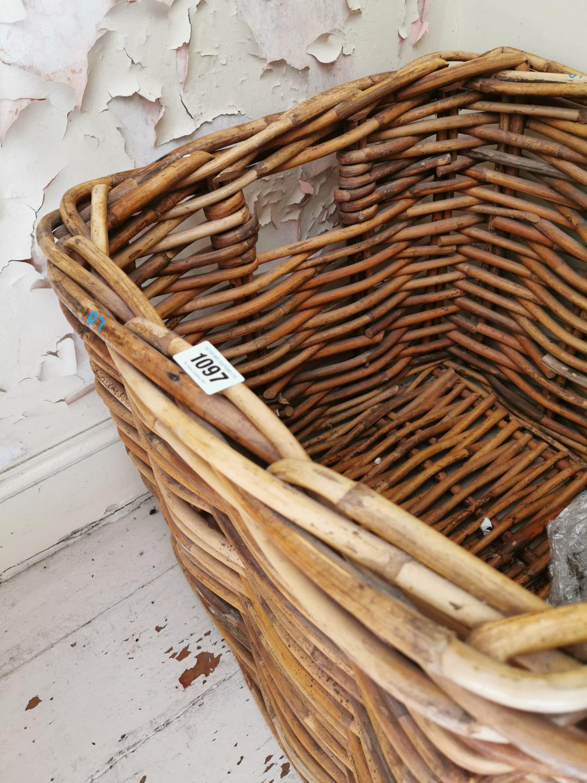 Wicker laundry basket. - Image 2 of 2