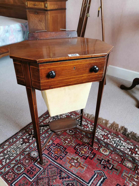 Regency inlaid mahogany music stand.