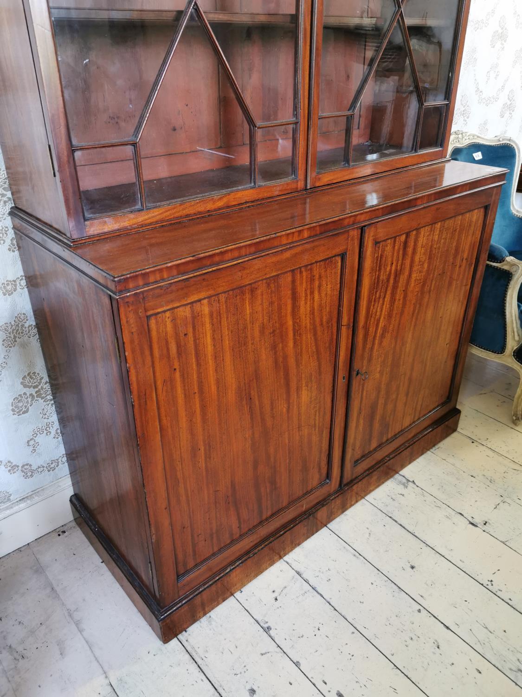 Georgian mahogany astral glazed bookcase. - Image 2 of 3