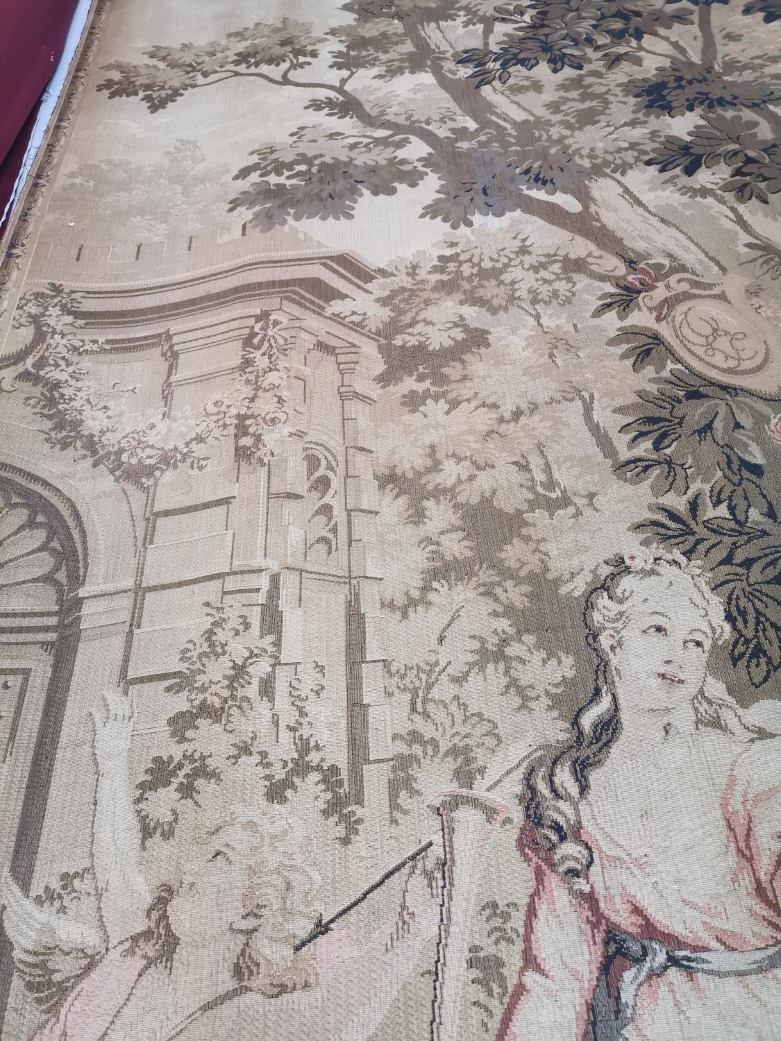 Pair of extremely rare 18th C. Flemish tapestries. - Image 5 of 11