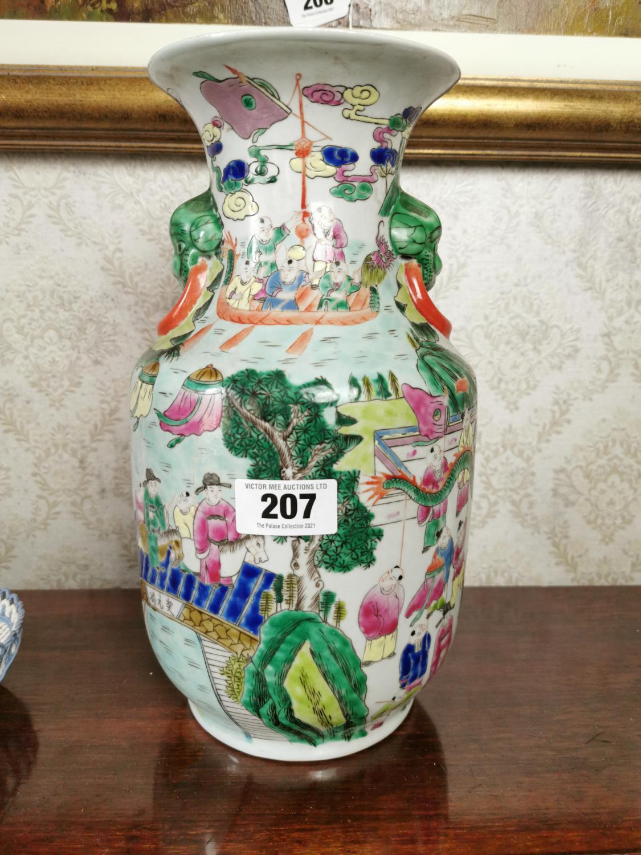 Decorative ceramic vase in the Oriental style