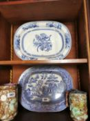 Two early 20th C. ceramic meat platters.