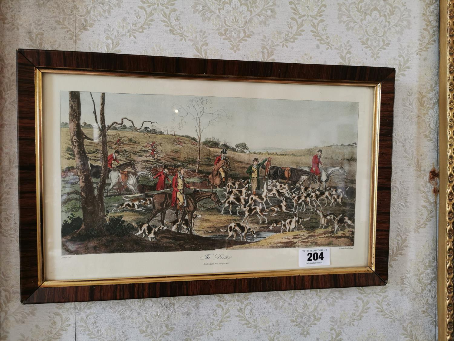 Set of four 19th. C. coloured Hunting prints - Image 3 of 3