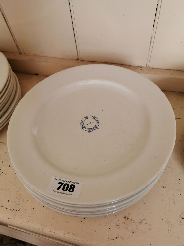 Set of ten 2nd Period Belleek dinner plates