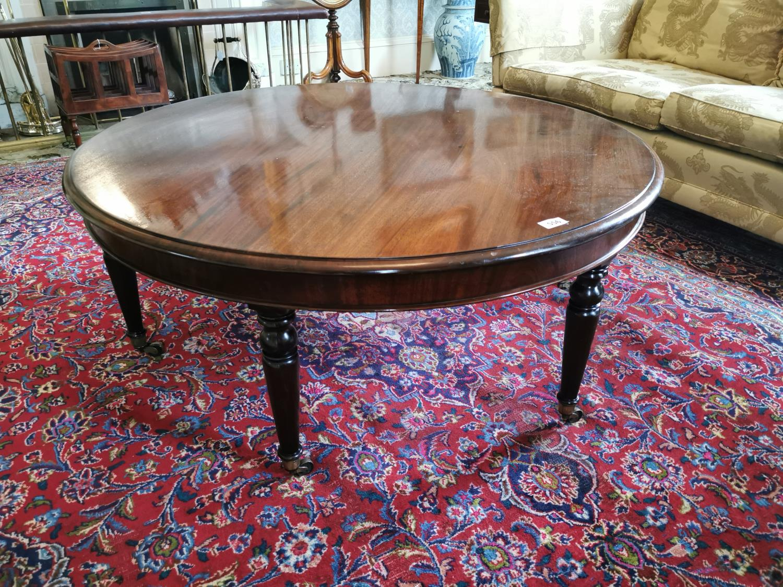 Regency mahogany cicular coffee table.