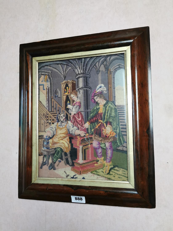 19th. C. framed tapestry.