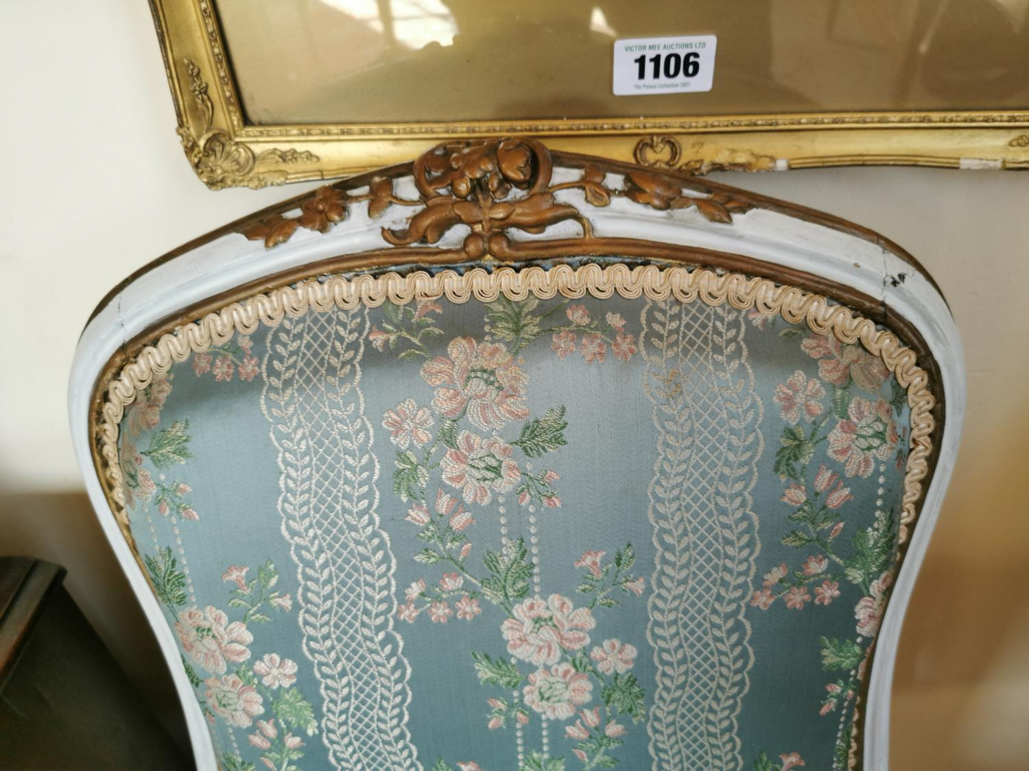 Pair of 19th C. giltwood French side chairs. - Image 3 of 3