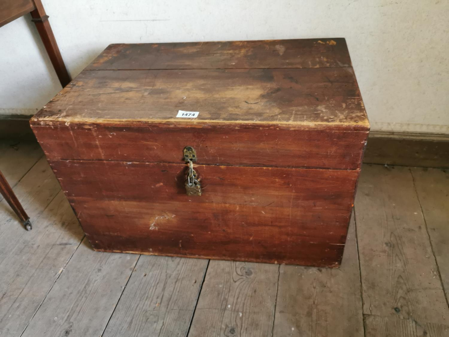 Early 20th C. pine trunk.