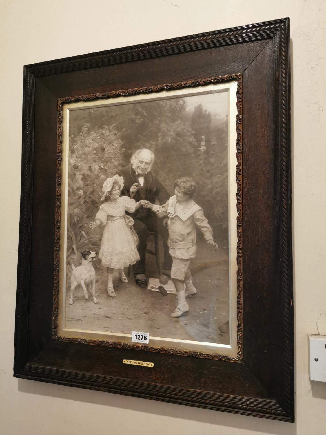 Early 20th C. black and white family print.