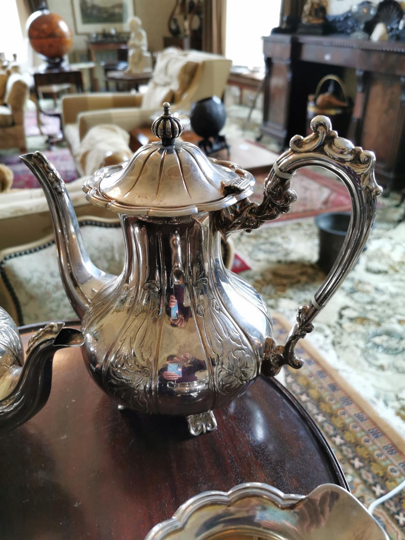 English silver four piece tea set - Image 2 of 4