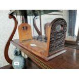 19th. C. hardwood book holder