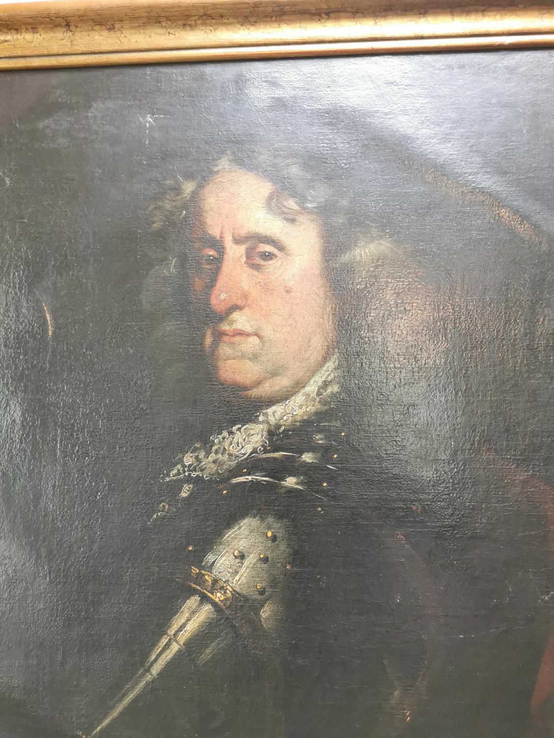 Oil on Canvas of a Noble Man - Image 3 of 3