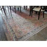 Large decorative carpet square.