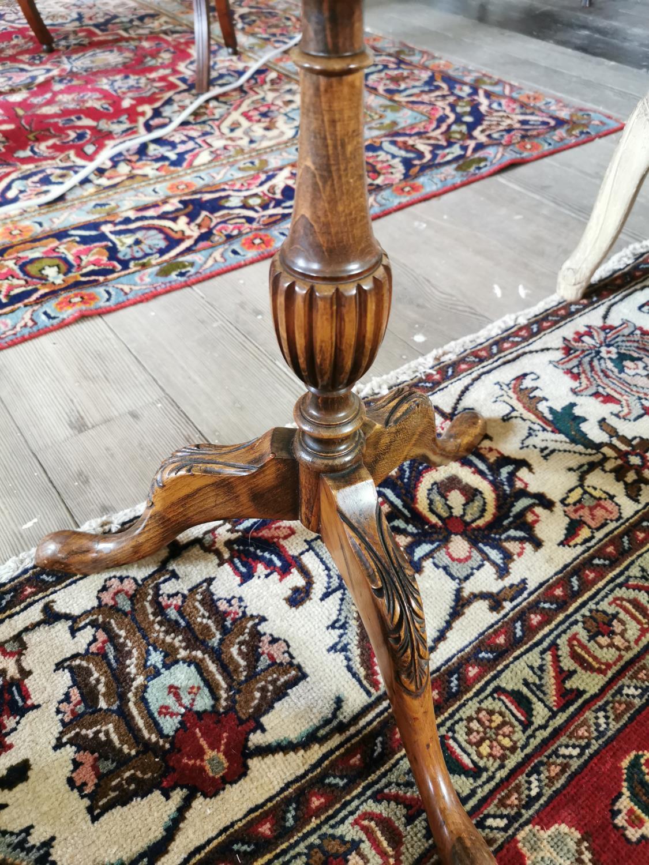 Burr walnut wine table - Image 3 of 3