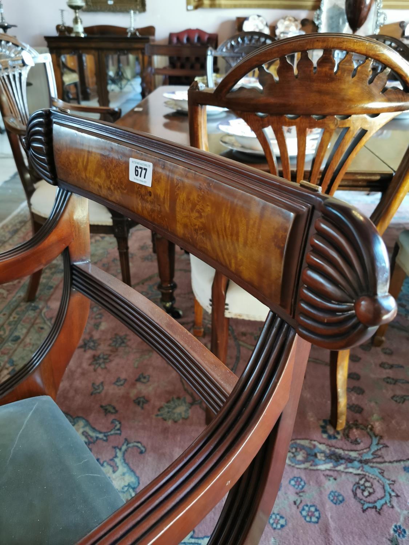 Mahogany metamorphic library chair. - Image 2 of 4
