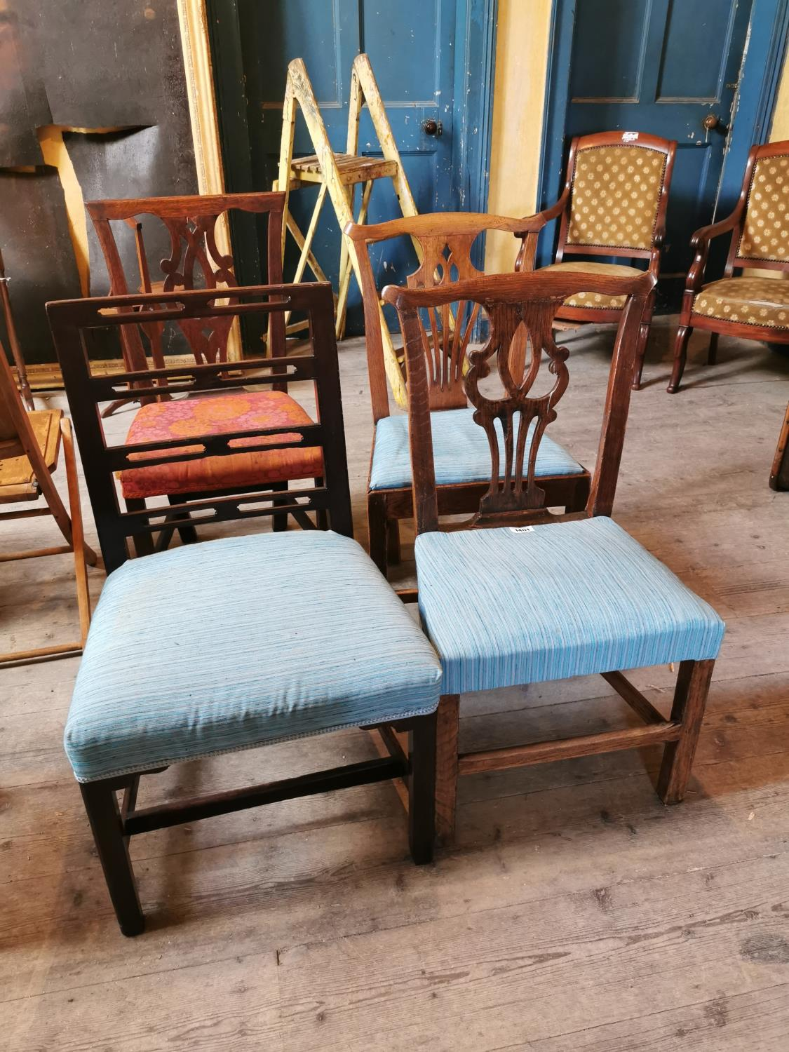 Collection of four Georgian chairs.