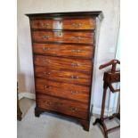 Irish Georgian mahogany chest of drawers.