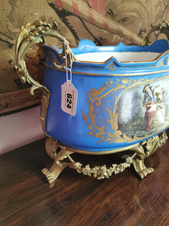 Decorative hand painted ceramic urn. - Image 2 of 2