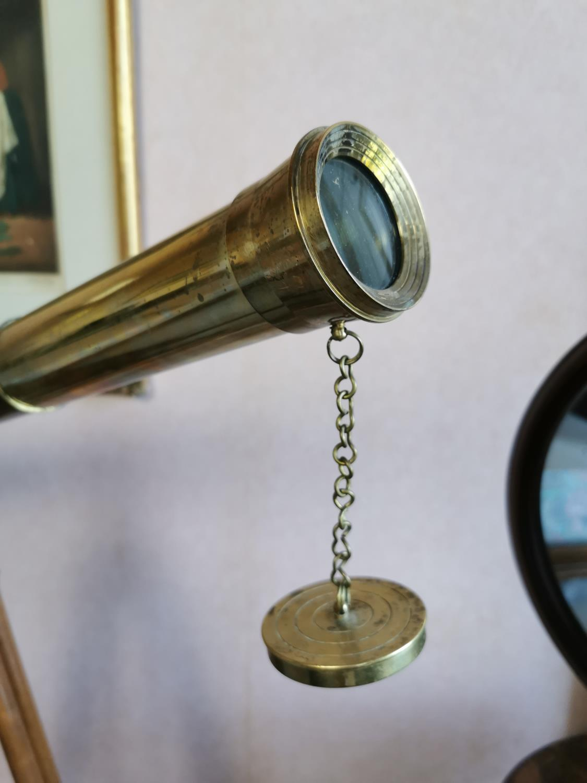 Brass and mahogany telescope - Image 3 of 4