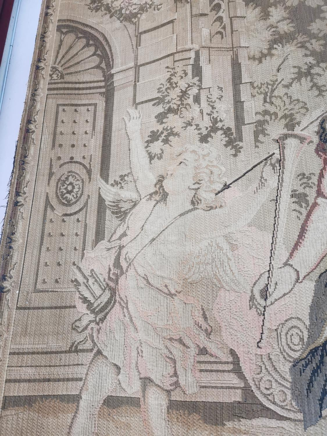 Pair of extremely rare 18th C. Flemish tapestries. - Image 4 of 11