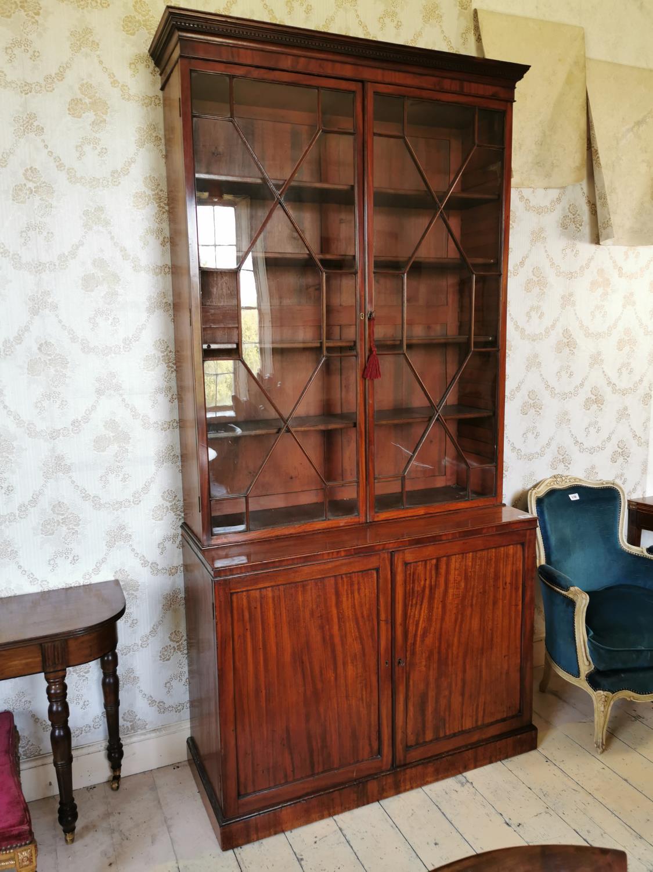Georgian mahogany astral glazed bookcase.