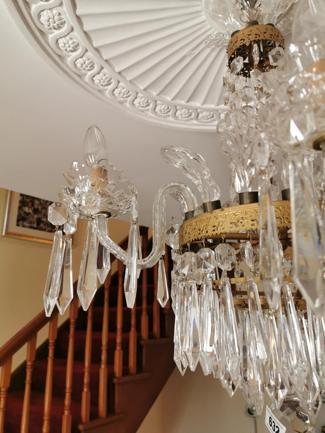 Waterford Crystal five branch chandelier. - Image 2 of 3