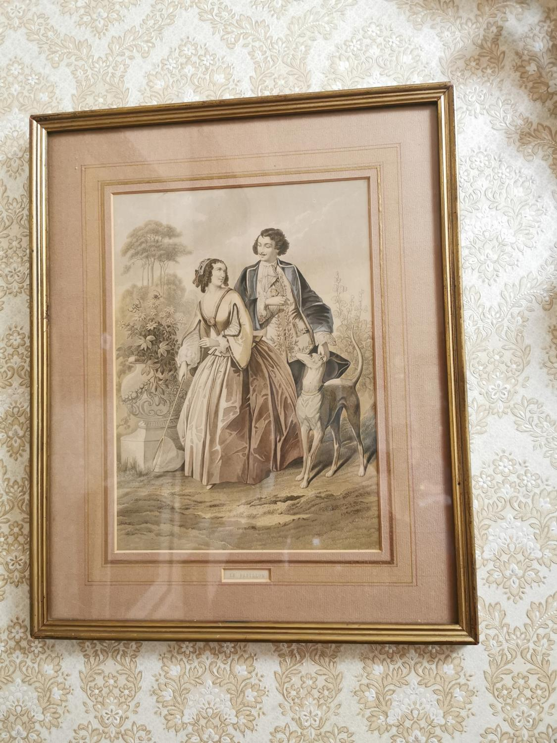 Pair of French coloured prints - Image 3 of 3