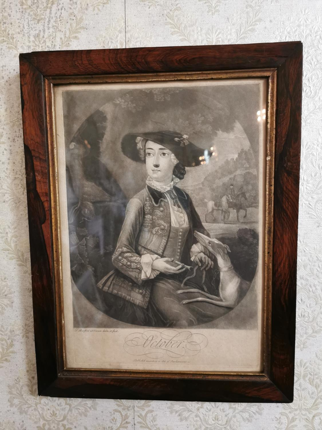 Pair of French black and white prints of Ladies - Image 2 of 2