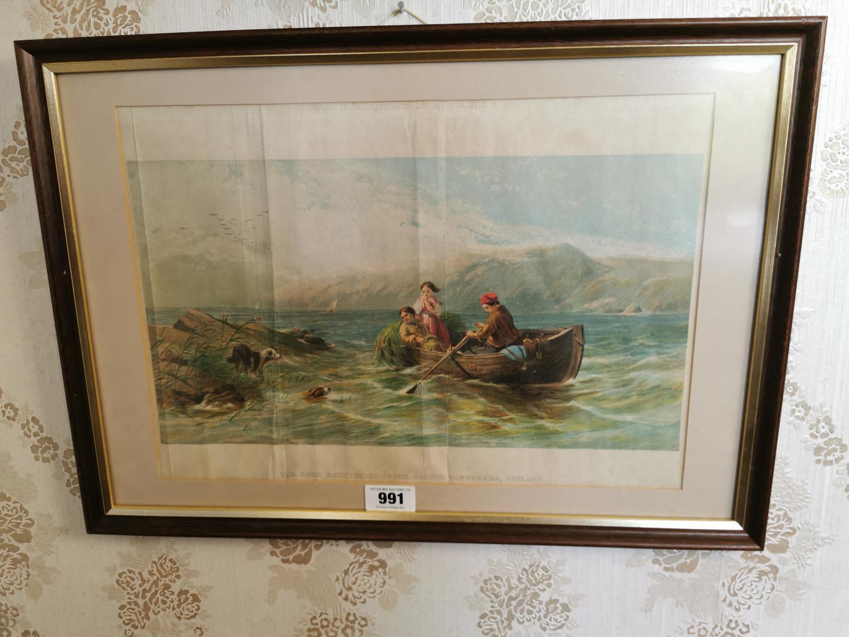 19th C. framed coloured print.