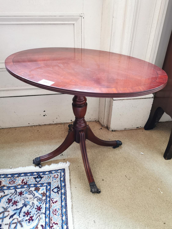 Pair of mahogany wine tables.