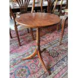 Regency mahogany wine table.