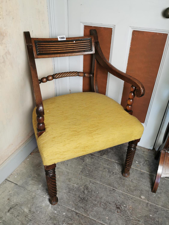 Regency mahogany open arm chair