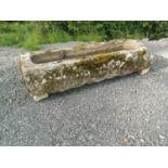 19th C. sandstone trough.