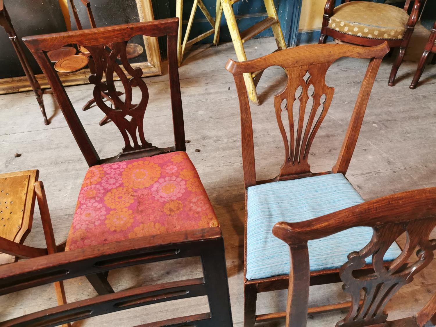 Collection of four Georgian chairs. - Image 2 of 2
