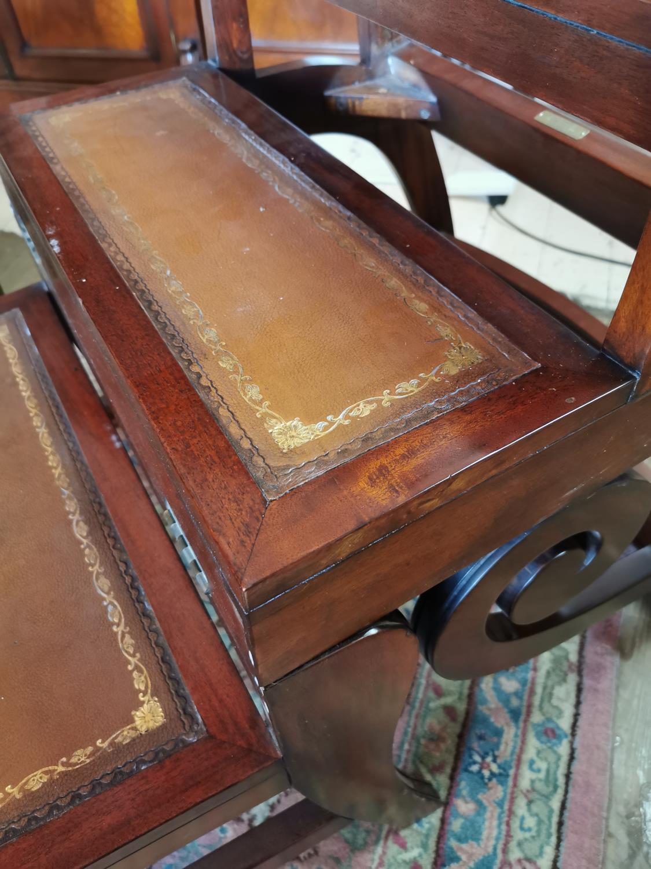 Mahogany metamorphic library chair. - Image 3 of 3
