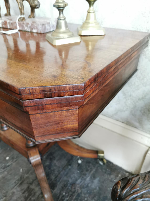 Georgian mahogany turn over leaf card table - Image 3 of 3