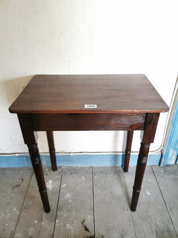 Edwardian mahogany side table.