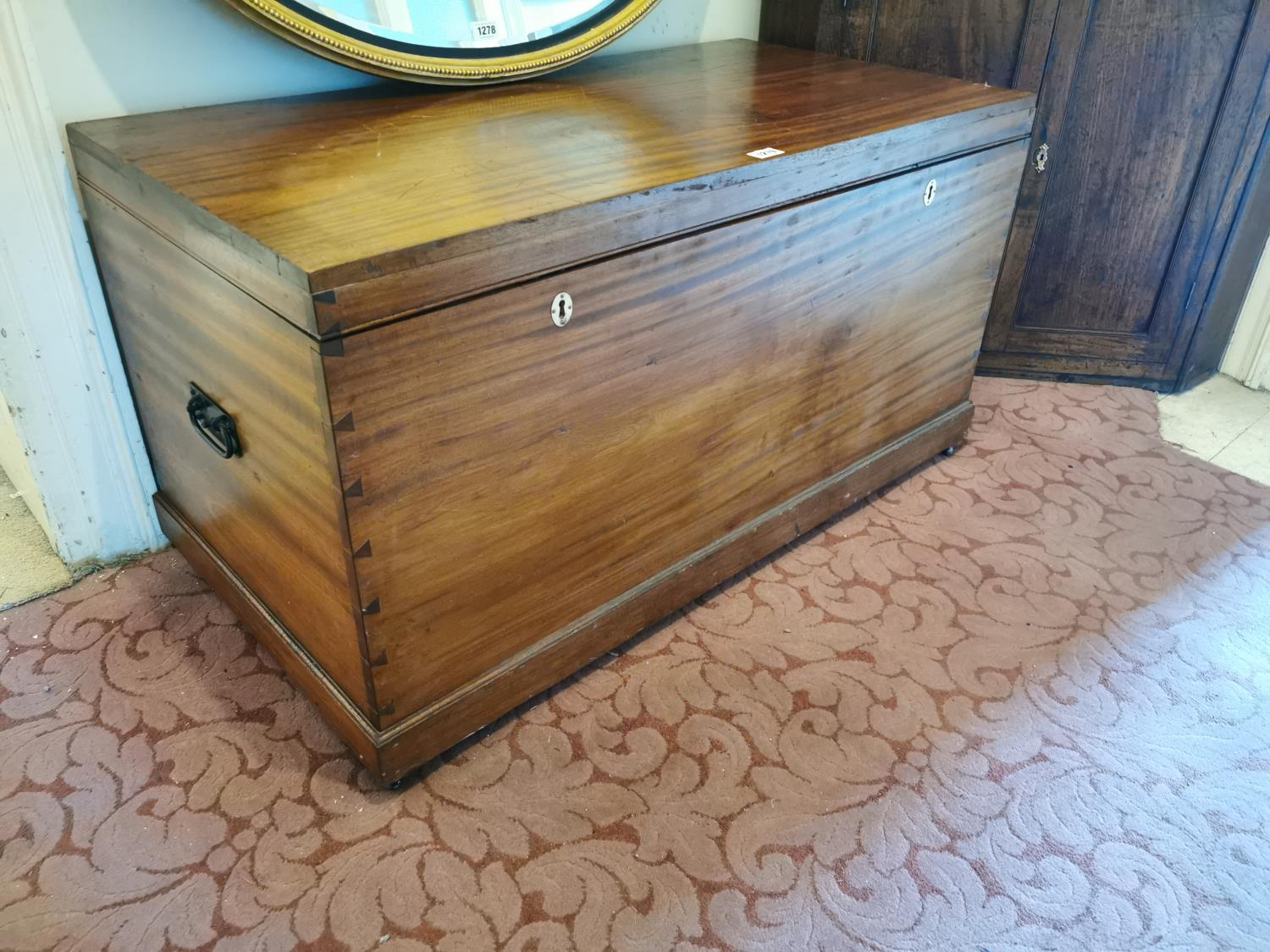 Late 19th C. camphor wood trunk.