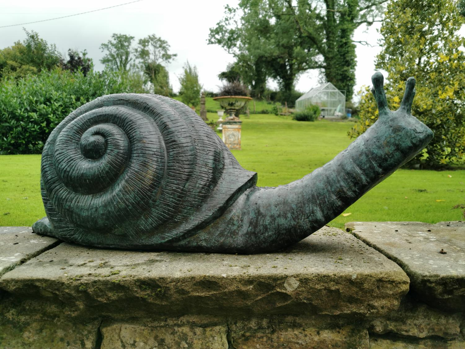Exceptional quality bronze model of a Snail.