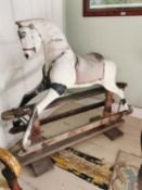 Early 20th C. hand painted rocking horse.