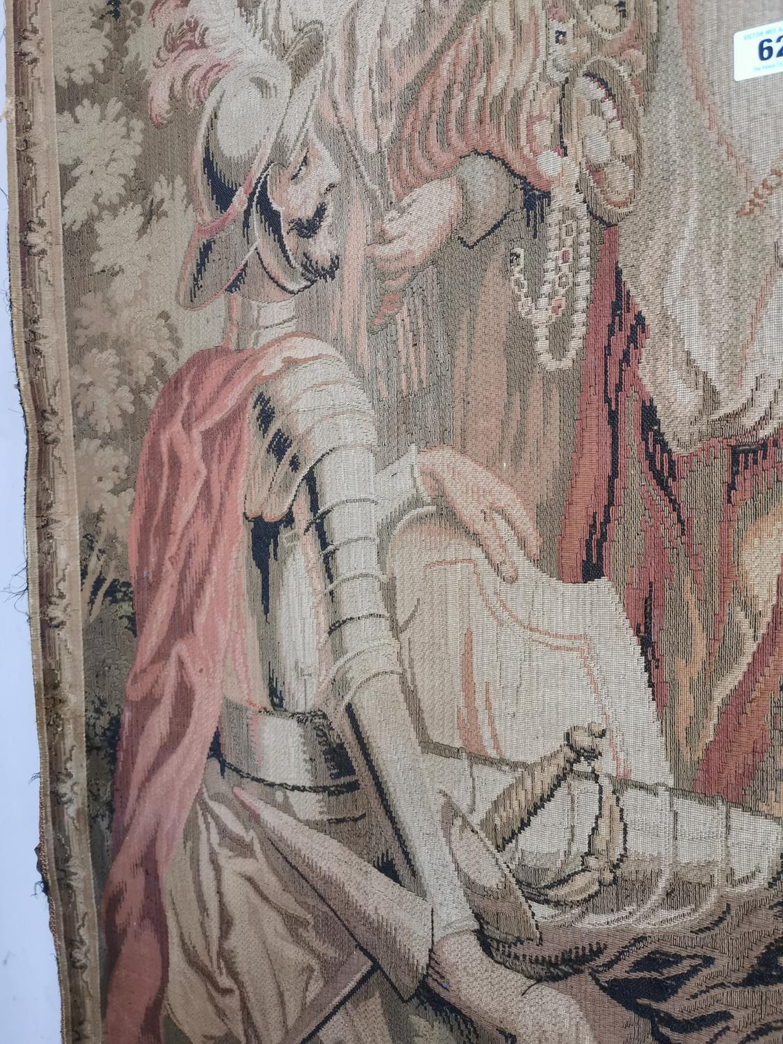 Pair of extremely rare 18th C. Flemish tapestries. - Image 8 of 11