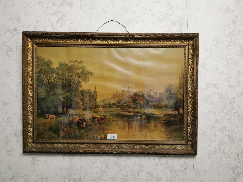 Late 19th C. framed coloured print.
