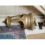 Good quality ornamental brass hanging lantern