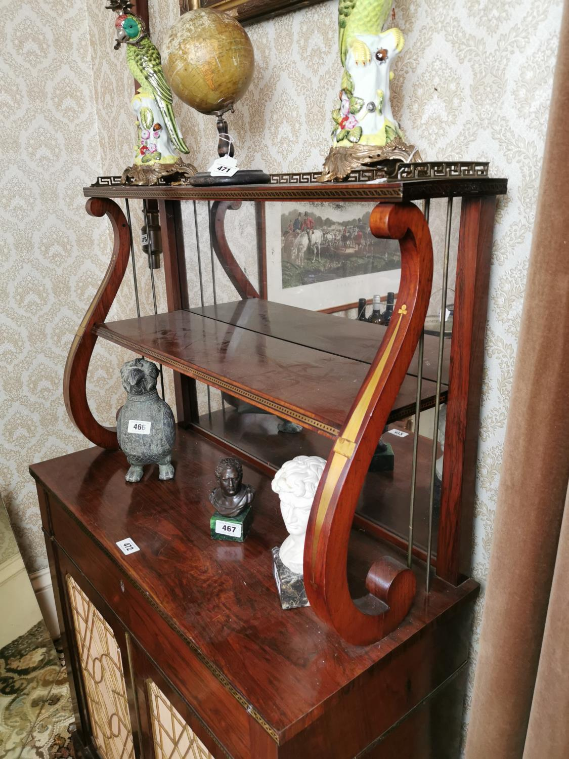 Exceptional quality Regency rosewood chiffione - Image 2 of 4