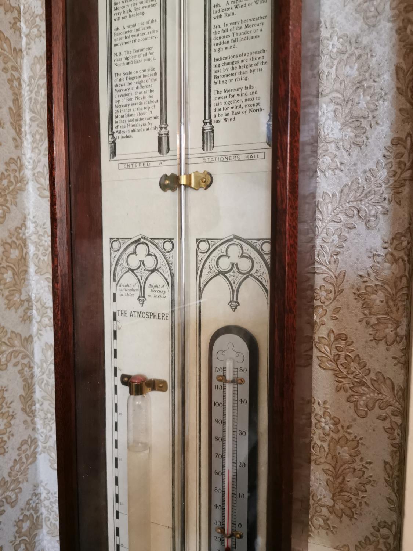 Mahogany barometer - Image 3 of 4