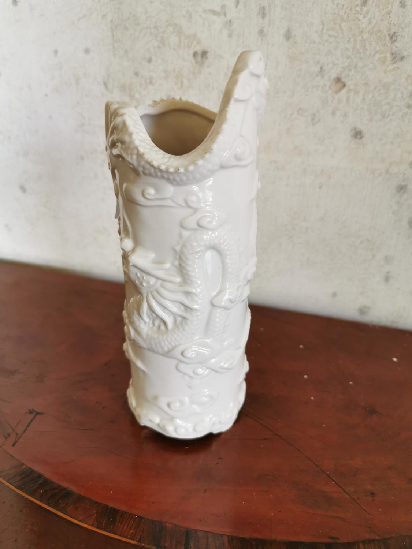 Chinese ceramic paint brush pot. - Image 2 of 2