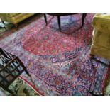 Hand woven Persian carpet.