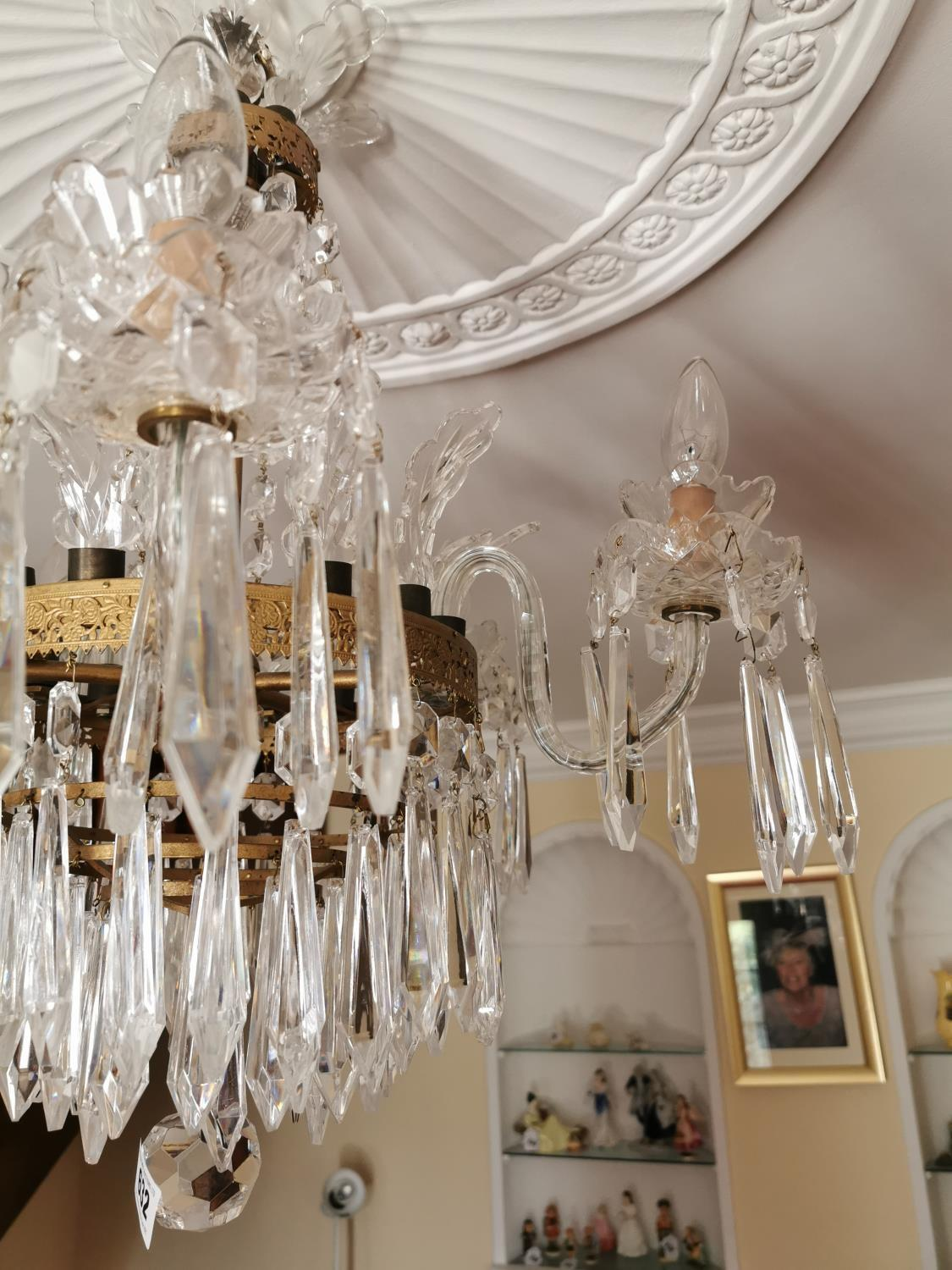 Waterford Crystal five branch chandelier. - Image 3 of 3