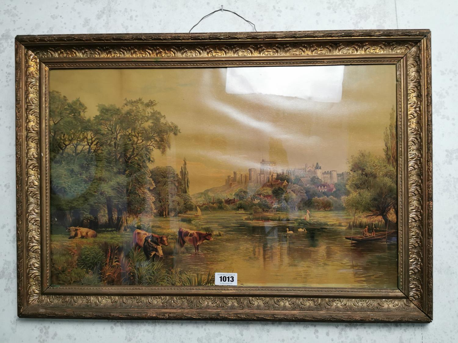 Late 19th C. framed coloured print. - Image 2 of 2